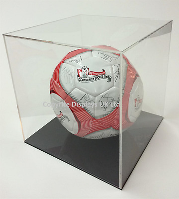 Clear Perspex Acrylic Football/Memorabilia Display Case - Standard