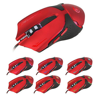Hot 6D LED Optical USB Wired 3200 DPI Pro Gaming Mouse For Laptop PC Game RD