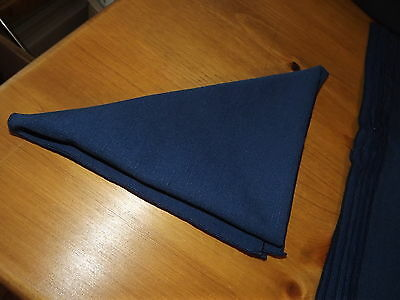 """10 Navy Blue Dinner Table Napkins Great Condition 19"""" Square"""