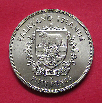 1977 Falkland Islands 50 Pence - uncirculated