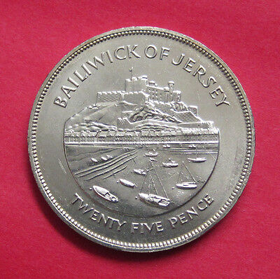 1977 Bailiwick of Jersey 25 Pence - uncirculated