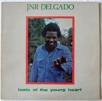 JUNIOR DELGADO UK 1979 Reggae Vinyl LP TASTE OF THE YOUNG HEART  Dennis Brown