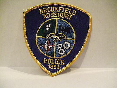 police patch  BROOKFIELD POLICE MISSOURI