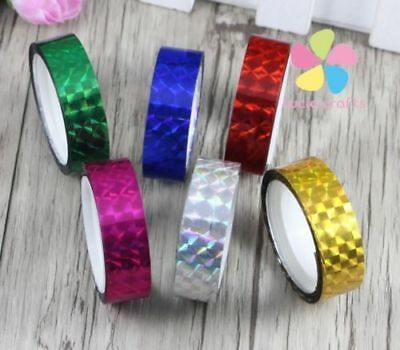1.2cm*9m prism Hoop Holographic Tape For Gift Packing Adhesive Laser Tape 6pcs/l