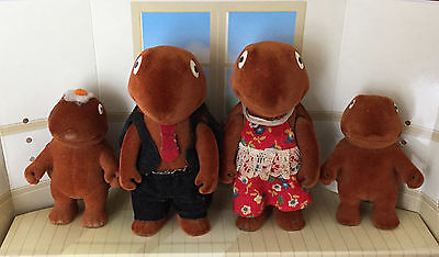 Sylvanian Forest Families Baerenwald Brown Turtle Family - very rare!! vintage
