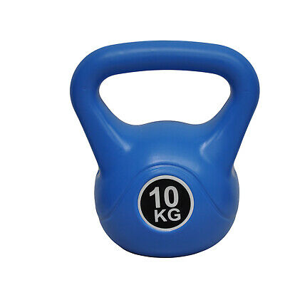 Energetics 10Kg Kettlebell Blue - Home Gym Kettlebell Weight Fitness Exercises