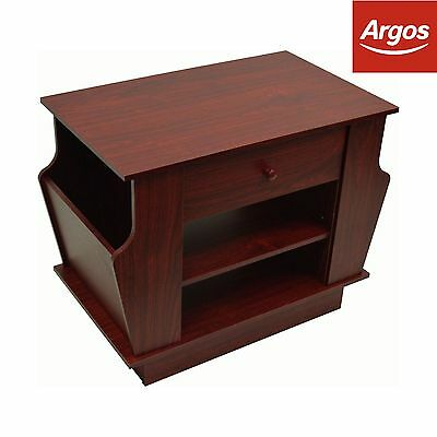 Mahogany Effect End Table with Magazine Rack and Storage -From Argos on ebay