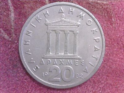 Greece  20   Drachmai   1982