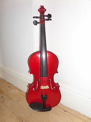 Antoni Glossy Red Violin 3/4 with Stentor Case Good Condition