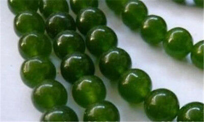 """8mm natural emerald gemstone round loose beads 15"""" strand AAA"""