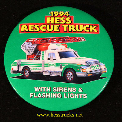 1994 Hess Rescue Truck Pin Back Button