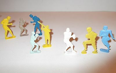 8 Vtg 1950's NOSCO Stand-Up Cracker Jack Toy Plastic Prize Mixed Sports Figures