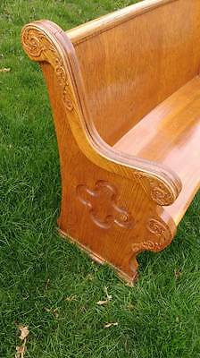 Antique Church Pew - Carved wood details