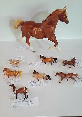 Lot of 8 Broken and or Damaged Breyer Horses