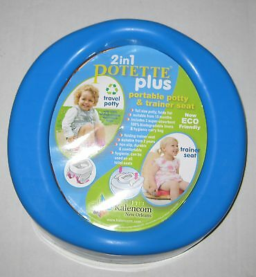 Kalencom 2-in-1 Potette Plus Baby Potty Seat with 3 Liners -  Blue