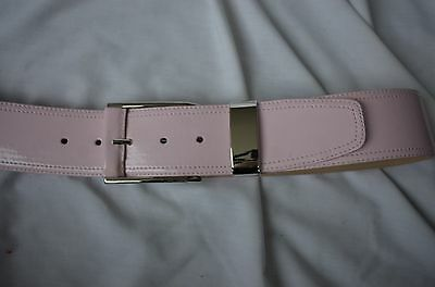 Carlisle Pink Patent Leather 2 Inch Wide with Silver Buckle Size Small
