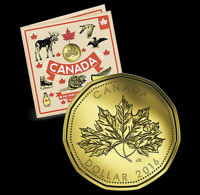 2016 O Canada Gift Set Includes Exclusive Special $1 Maple Leaf - 5 Coins in All