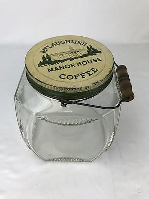 Antique Coffee Jar McLaughlin's Manor House Vintage