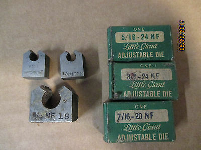 Vintage Little Giant Adjustable Dies Lot, Free Shipping