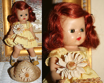1953 FLAMING RED hair Muffie in 1954 #602 Dainty Daisy With HAT & TLC shoes!