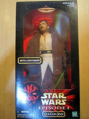 12inch 1:6  30cm Star Wars Episode I  Qui-Gon Jinn with lightsaber  MIB