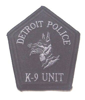 "Old Detroit Michigan Police K9 Unit Subdued 3.75"" Patch Unused"