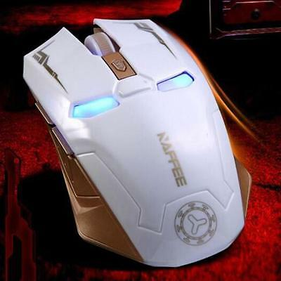 2.4GHz Wireless 【Rechargeable】2400DPI 6 Buttons Optical Gaming Game Mice