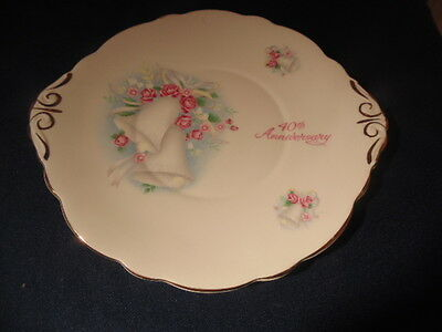 40Th Anniversary Plate,heritage Regency England.