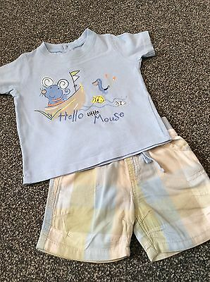 Baby Boy Shorts And T-shirt Set - Age 0-3 Months - Summer