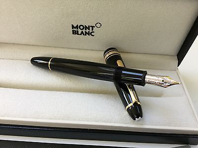 montblanc meisterstuck legrand 146 fountain pen excellent condition 14K M nib