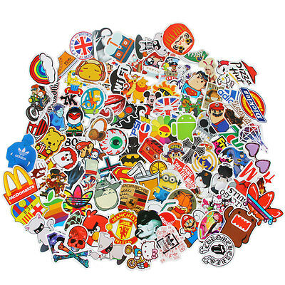 50 Skateboard Stickers Vintage Vinyl Laptop Luggage Decals Dope Sticker Mix Lot