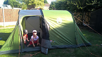 Coleman Galileo Family 4 Man Person Tent, Camping, Glamping, Green, Mint cond