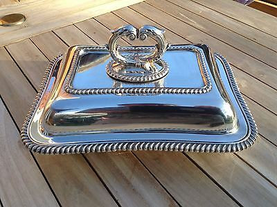 Excellent Quality Victorian Silver Plate Entree Dish by Barkes Bros