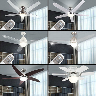 LED Ceiling Ventilator Softly A/C Cooling Fan Remote Control with Lighting