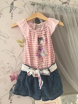 Next Girls Playsuit/ Outfit/ Shorts And Top In One 6-9 Months