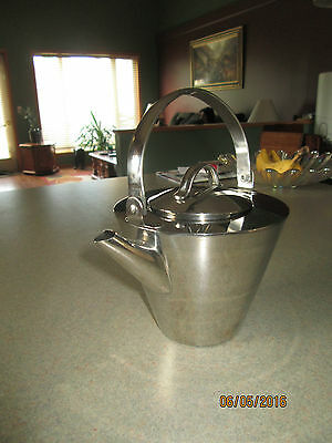Palm Restaurant Stainless Tea Pot