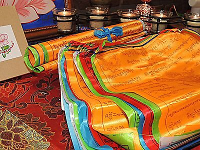 Traditional Tibetan Buddhist Prayer Flags Polyester Made $17dlls 5mts lenght.