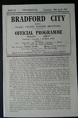 Bradford City v Gateshead 1946/47