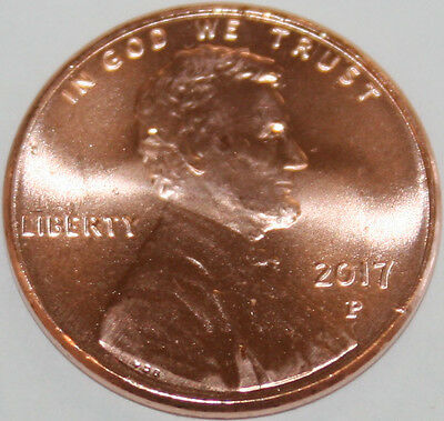 2017-P Lincoln Shield Cent Uncirculated BU Red Penny