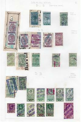 Collection Of Foreign Bill Revenue Perfins