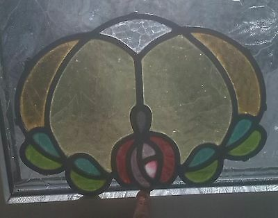 Old Stained glass oval panel restoration/infill/rippled