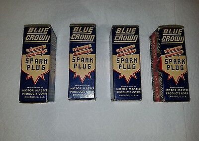 vintage nos blue crown spark plugs # 55