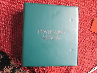 Postcard/P.H.Q. Card album with double sided sleeves-Read main description/scans