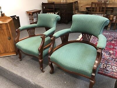 Pair Of Extremely Good Quality Upholstered Edwardian Armchairs. Open To Offers?