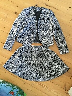 H&M Skirt And Jacket Suit Size 12