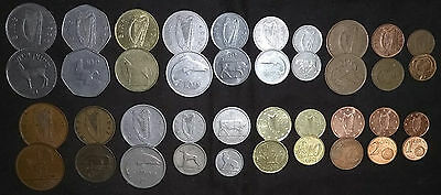 40 IRELAND Irish Coins Lot 1942 & later 21 Types Old GOOD LUCK Of The Eire Money