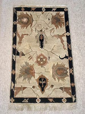 TUFENKIAN TIBETAN NEPAL HAND KNOTTED 3' x 5' RUG Gorgeous Earth Tones WOOL