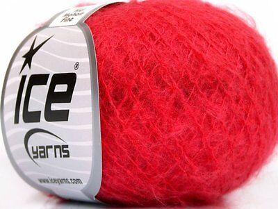 Lot of 10 Skeins Ice Yarns KID MOHAIR FINE (30% Kid Mohair) Yarn Candy Pink