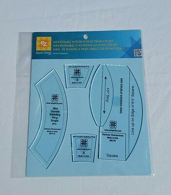 EZ Mini Double Wedding Ring Quilting Template
