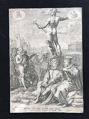 Jan Saenredam (1565-1607)  after Goltzius - Mercury, from  Seven Planetary Gods
